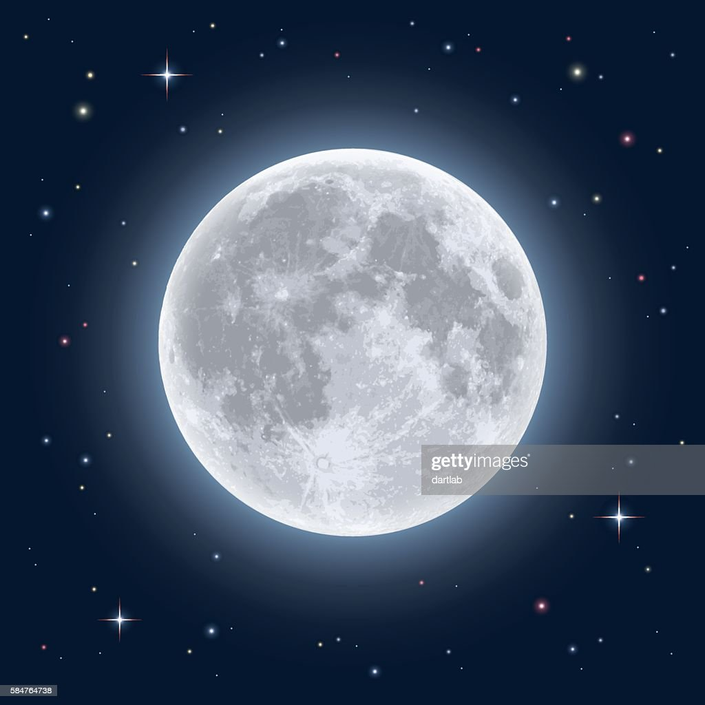 Realistic full moon