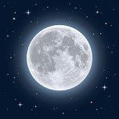 Realistic full moon