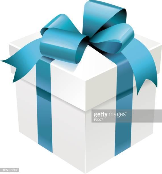 ilustraciones, imágenes clip art, dibujos animados e iconos de stock de realista caja de regalo - caja de regalo
