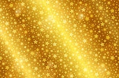 Realistic gold shiny texture with stars. Shiny metal foil gradient. Vector illustration