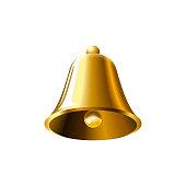 realistic golden bell