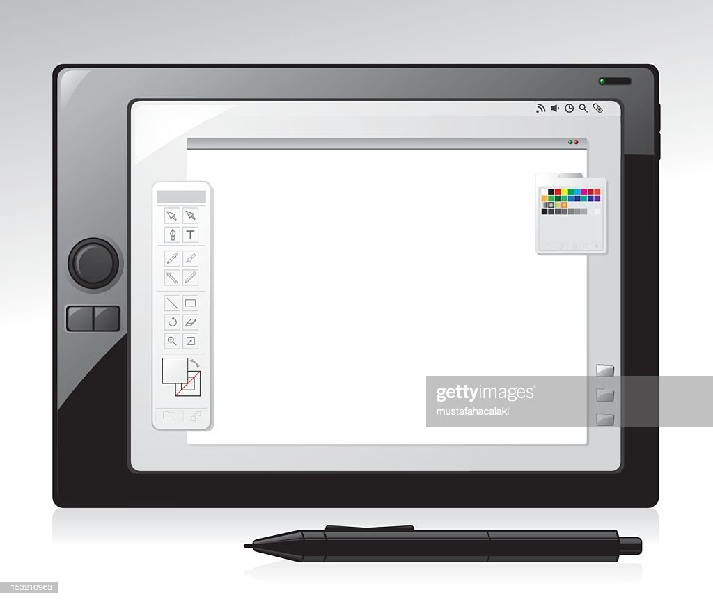 Realistic graphic tablet