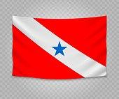 Realistic hanging flag