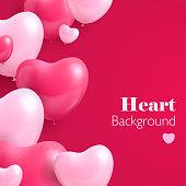 Realistic hearts balloon