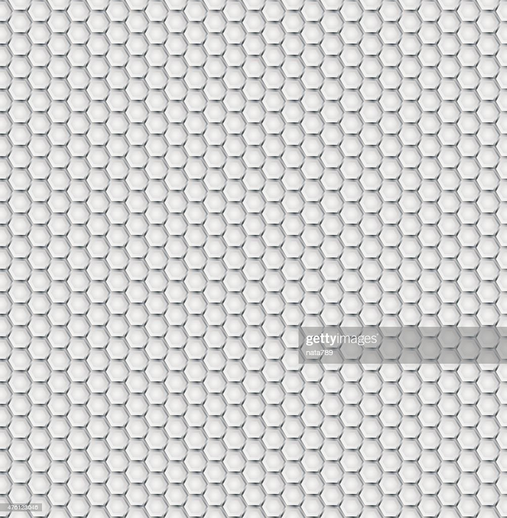 Realistic Hexagonal Grid Background stock illustration