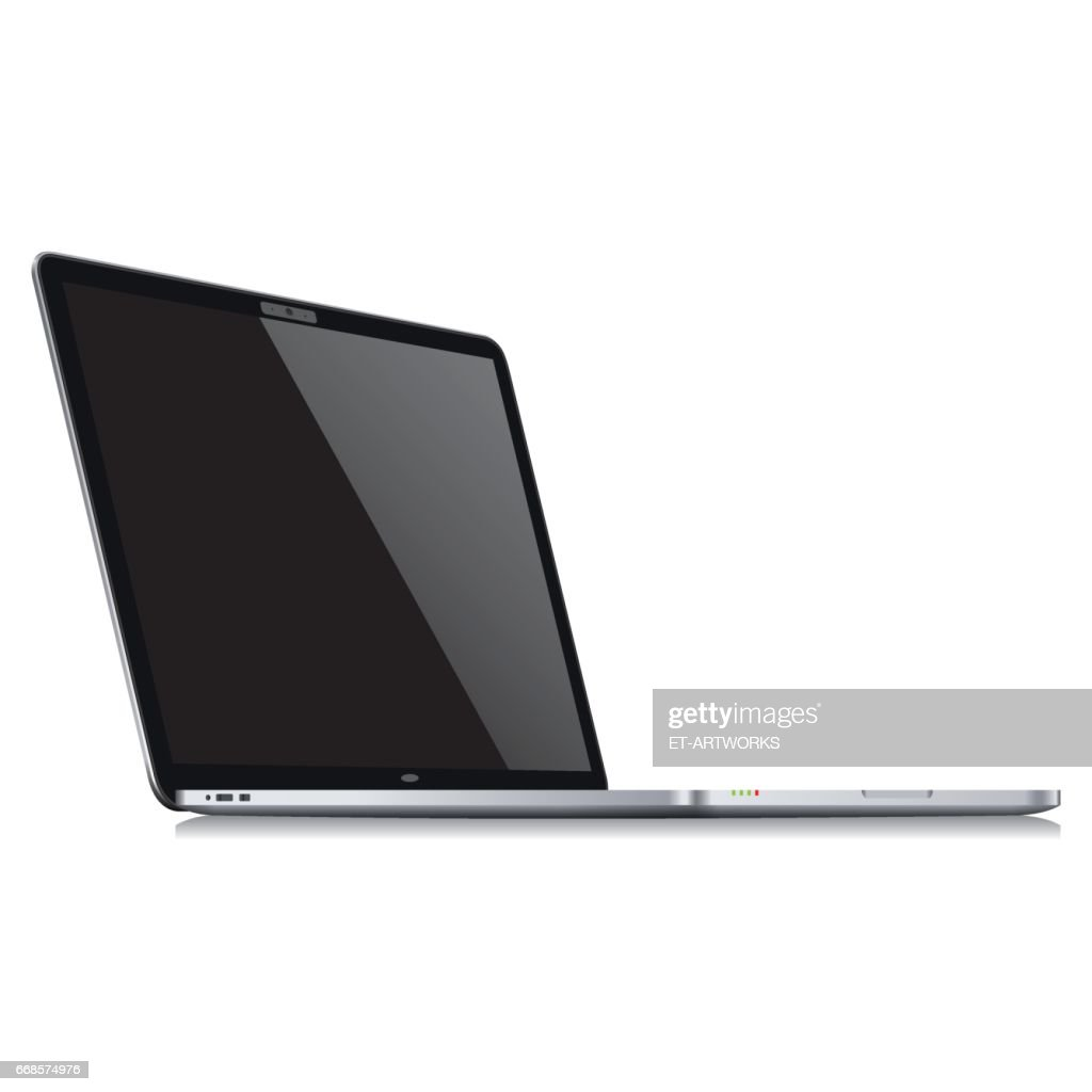 realistic laptop template vector vector art getty images