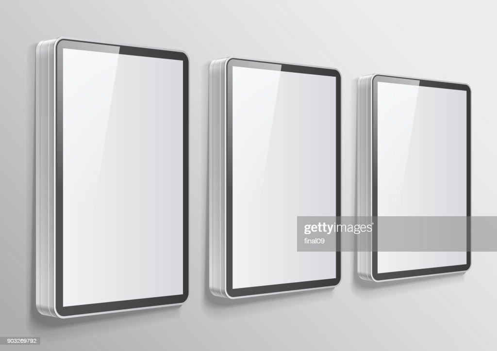 Realistic light box template