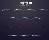 Realistic light effect lens flare animation frames set for games