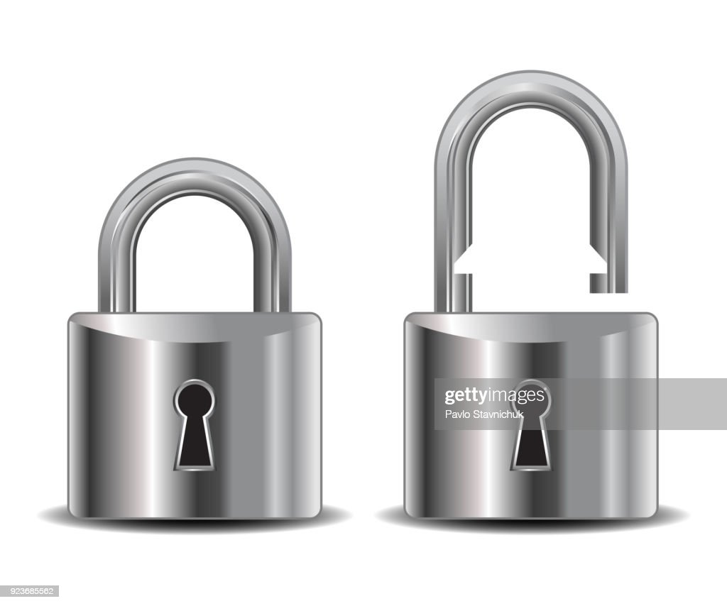Realistic lock – stock vector