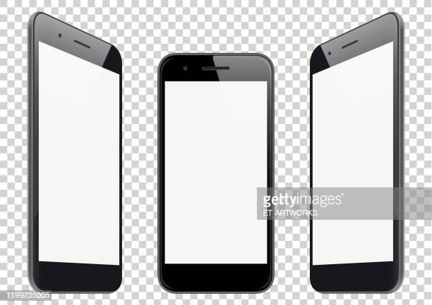 リアルな携帯電話の遠近角図 - 薄い点のイラスト素材/クリップアート素材/マンガ素材/アイコン素材