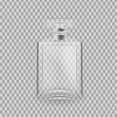 Realistic mock-up, template of flacon spray for freshness