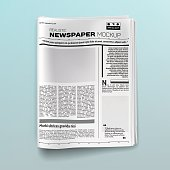 Realistic newspaper (magazine) mockup