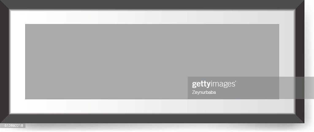 Realistic photo frame. Perfect for your presentations Vector illustration