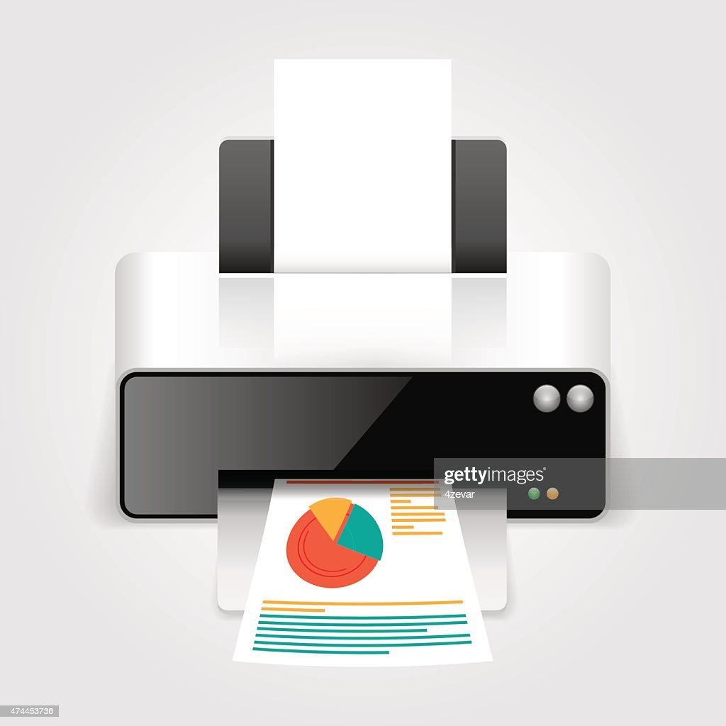 Realistic printer.