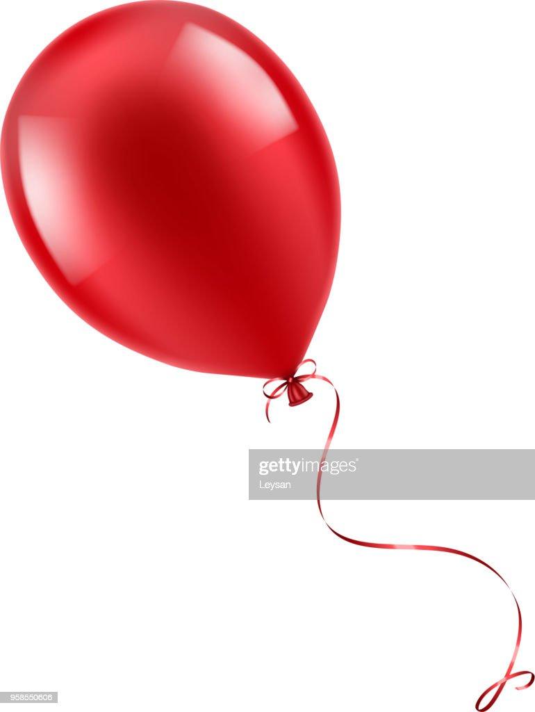 Realistic red balloon illustration