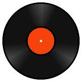 Realistic retro vinyl gramophone record disk, vector lp template vintage vinyl gramophone record disk to design music Studio