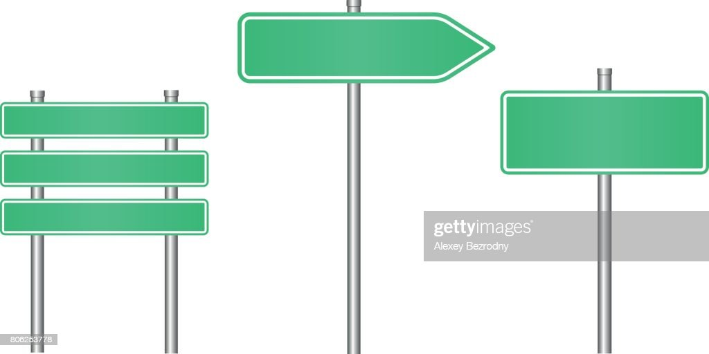 realistic road sign set road sign template vector art getty images
