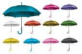 Realistic set open umbrella - vector