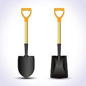 Realistic shovel isolated.