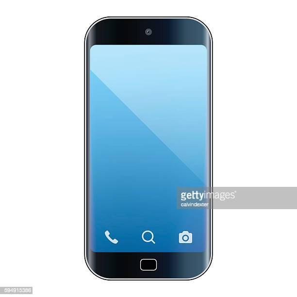 realistic smartphone - generic description stock illustrations, clip art, cartoons, & icons