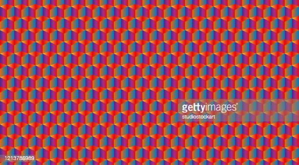 ilustrações de stock, clip art, desenhos animados e ícones de 3d realistic square pattern. medern cube texture. geometric symmetry background - optical art