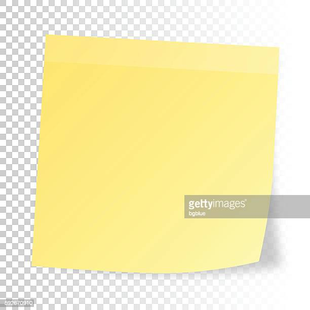 realistic sticky note  isolated on blank background - post it stock illustrations, clip art, cartoons, & icons