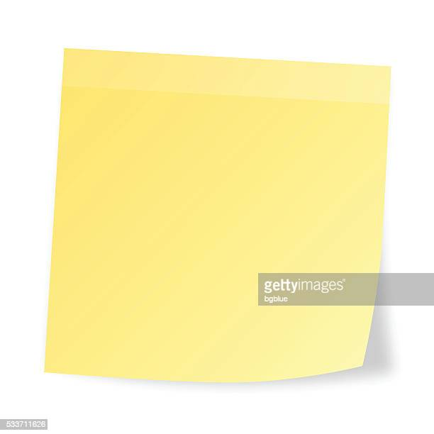realistic sticky note  isolated on white background - post it stock illustrations, clip art, cartoons, & icons