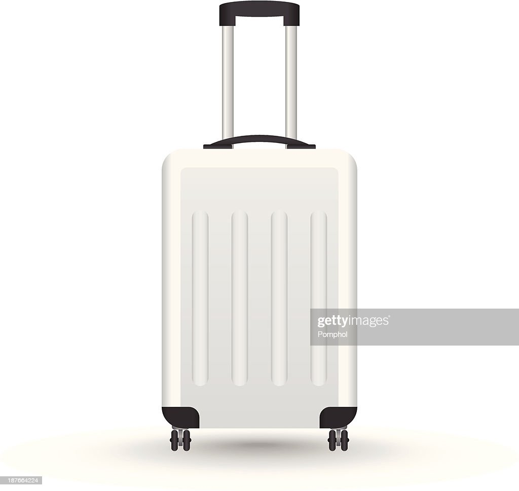 3D Realistic suitcase vector for travel