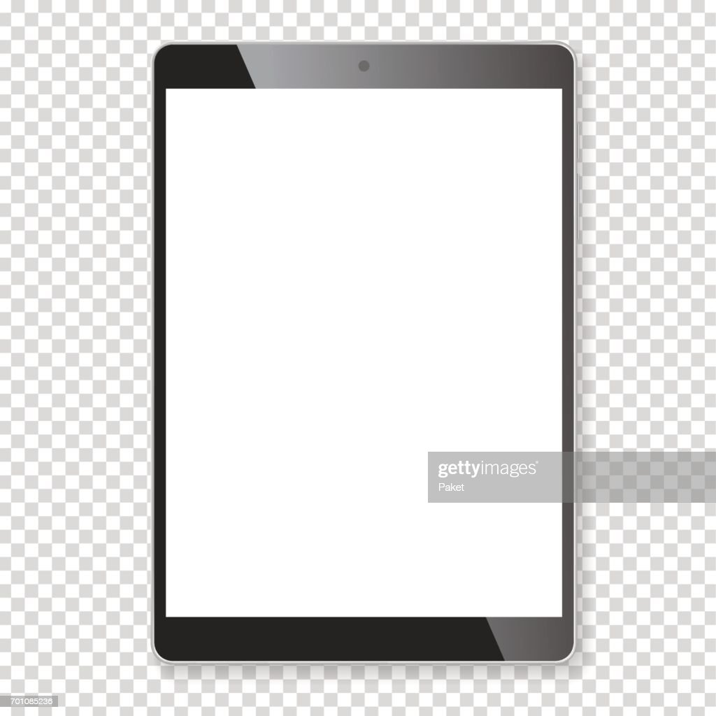 Realistic tablet portable computer mockup