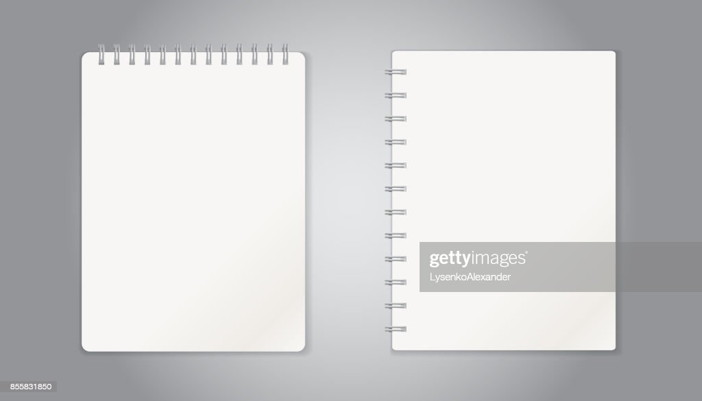 Realistic template notepad with spiral blank cover design school realistic template notepad with spiral blank cover design school business diary office stationery cheaphphosting Image collections