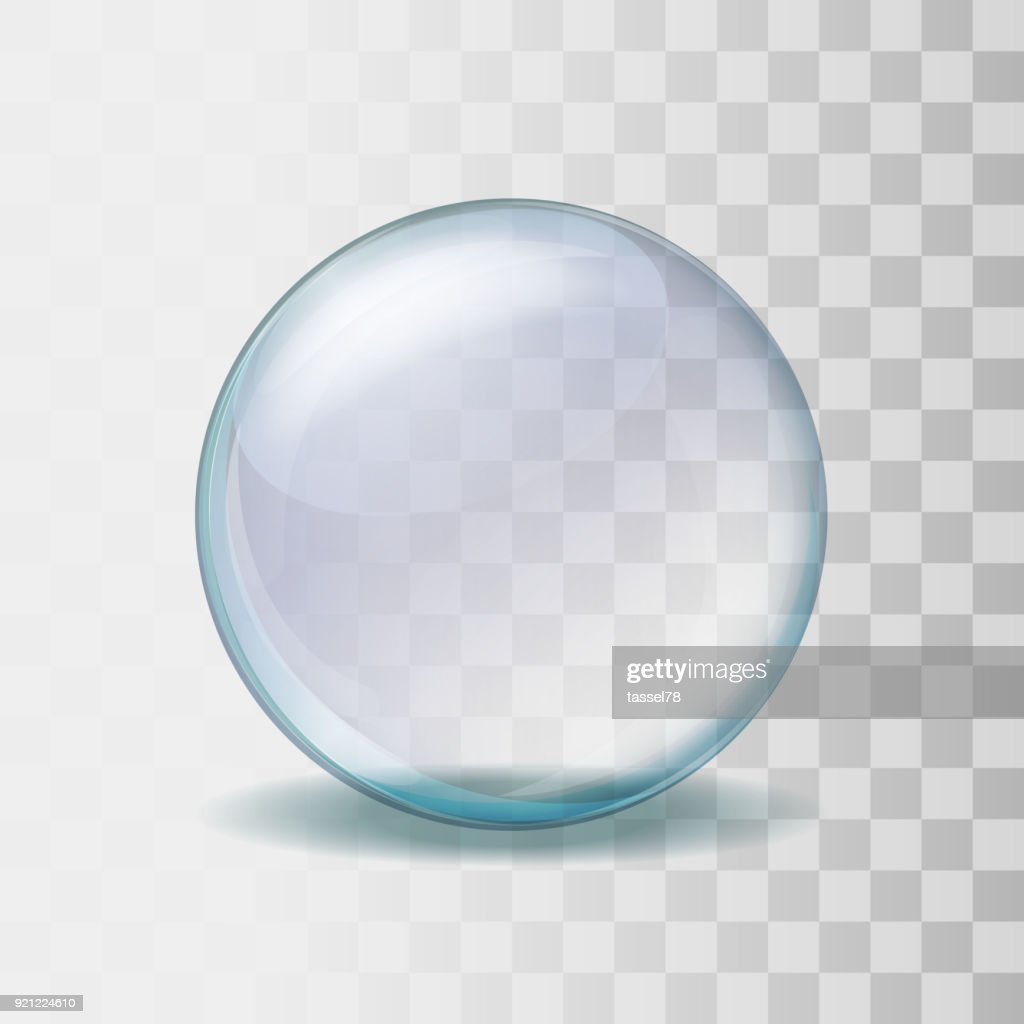 Realistic transparent glass sphere illustration