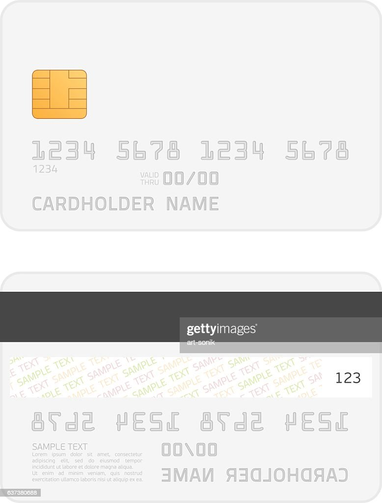 Realistic vector credit cards mockup.