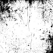 Realistic vector grunge black and white Texture