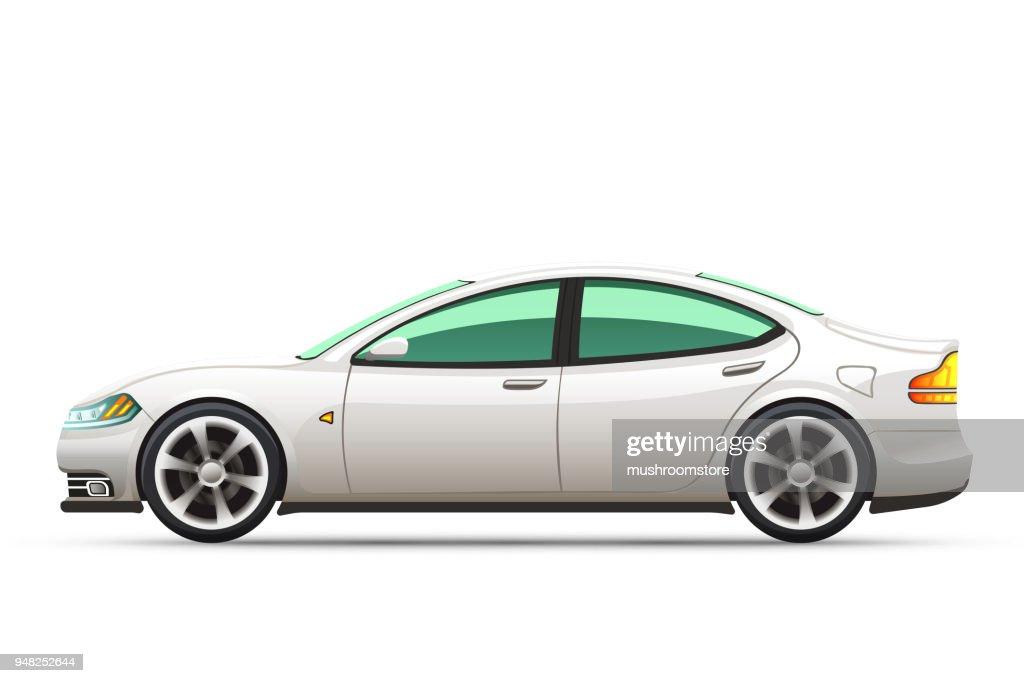 Realistic vector illustration of a car.