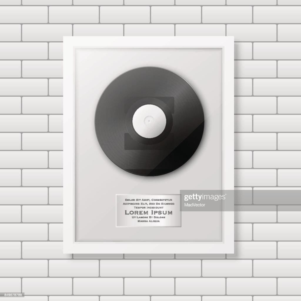 Realistische Vector Lp En Label In Glanzend Wit Frame Pictogram ...