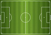 Realistic vector of a football or soccer field