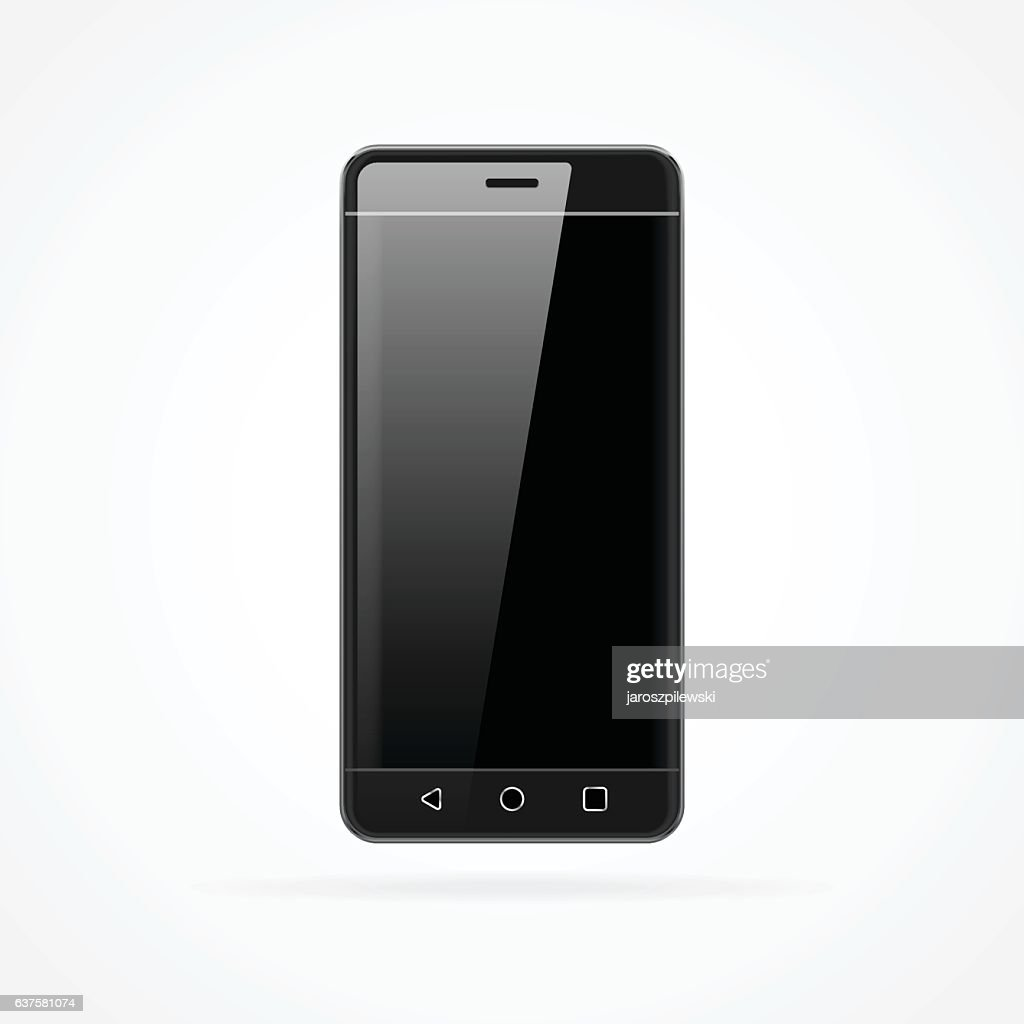 Realistic vector of generic smartphone with reflection.