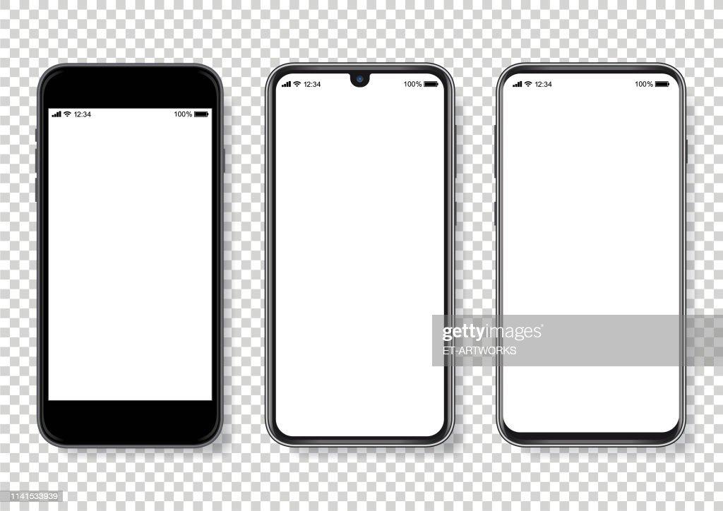 Realistic vector Smartphone Illustration : Stock Illustration