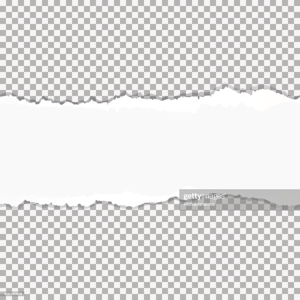 Realistic vector torn paper with ripped edges with space for your text, seamless horizontally.