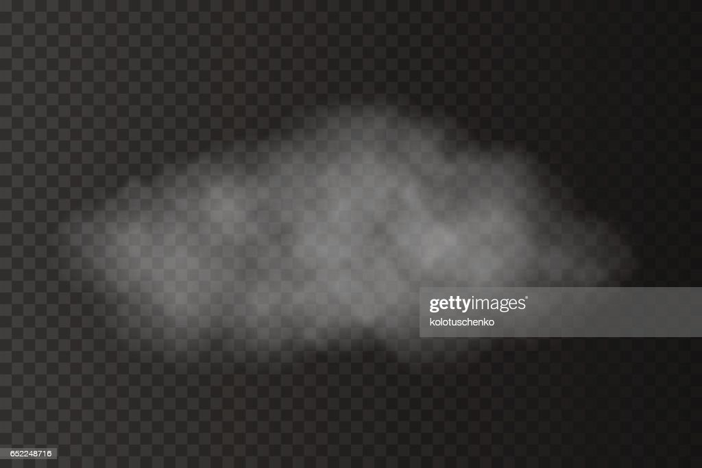 Realistic Vector Transparent Cloud stock illustration