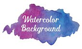 Realistic Watercolor Vector Background
