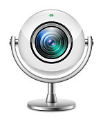 Realistic web camera icon