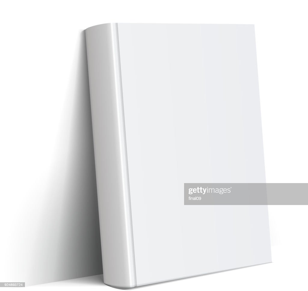 Realistic white Blank book cover