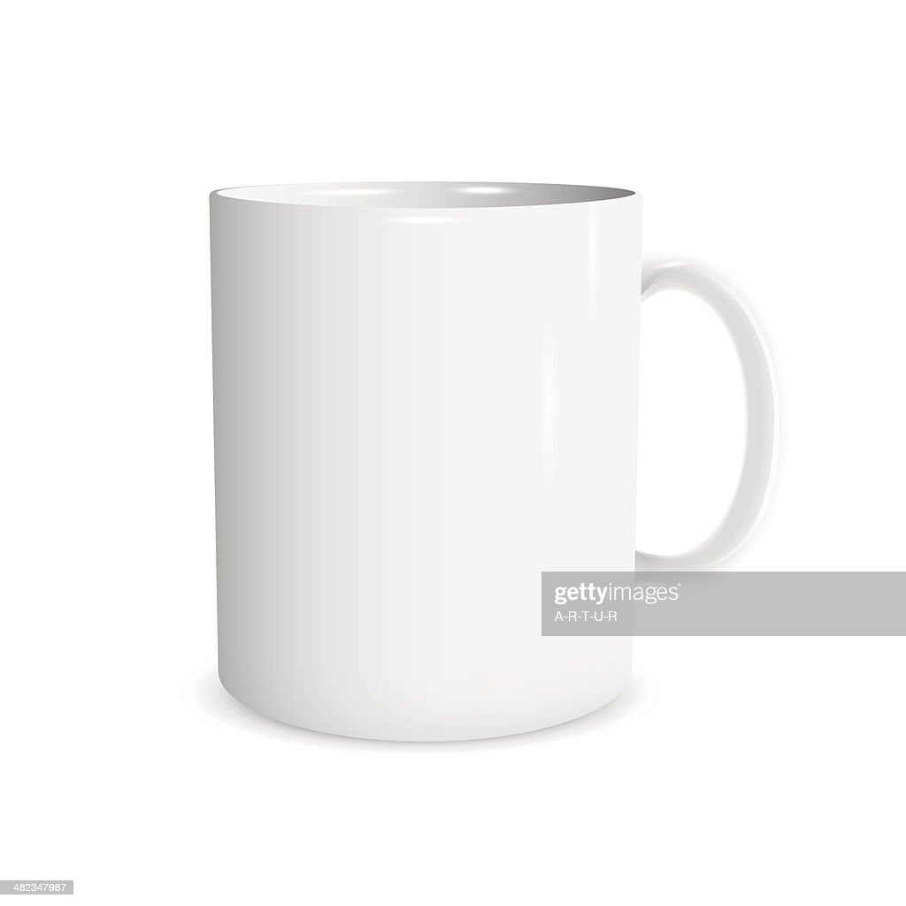 Realistic white cup