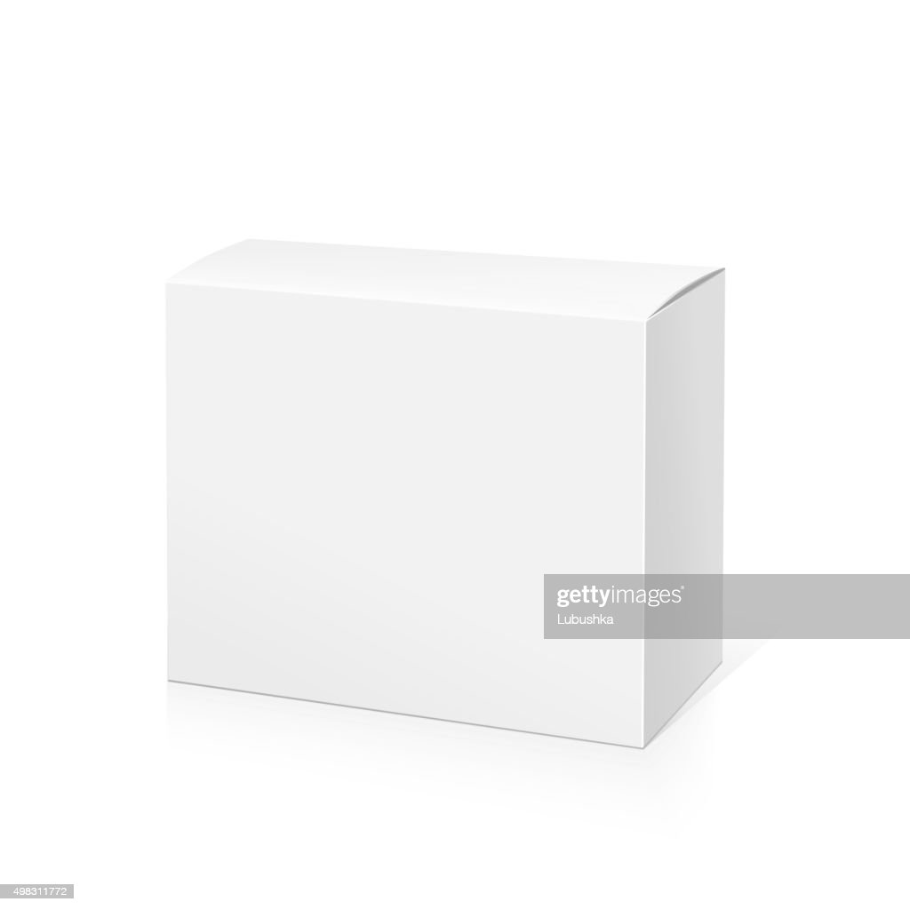 Realistic White Package Box.