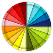 A really detailed animated color wheel