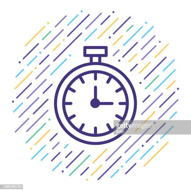 Real-Time Data Line Icon Illustration