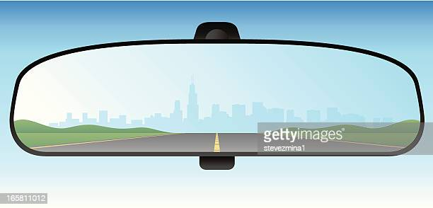 rear view mirror - rear view mirror stock illustrations