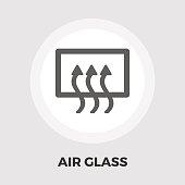 Rear window defrost flat icon