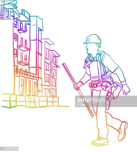 Rebar Worker Construction Rainbow